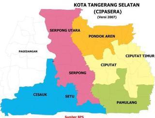 Data Kecamatan dan Kelurahan Tangerang Selatan