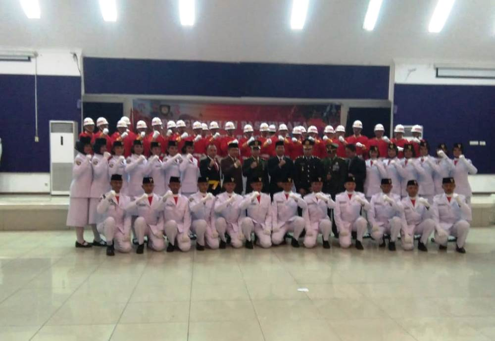 Pengukuhan Paskibra 2018 Kabupaten Tangerang, Rabu (15/8/2018) malam.