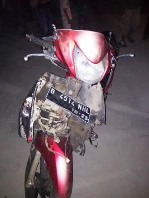 Sepeda motor Honda Spacy B-4514-NHL rusak berat.
