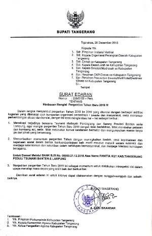 Surat Himbauan dari Bupati Tangerang.