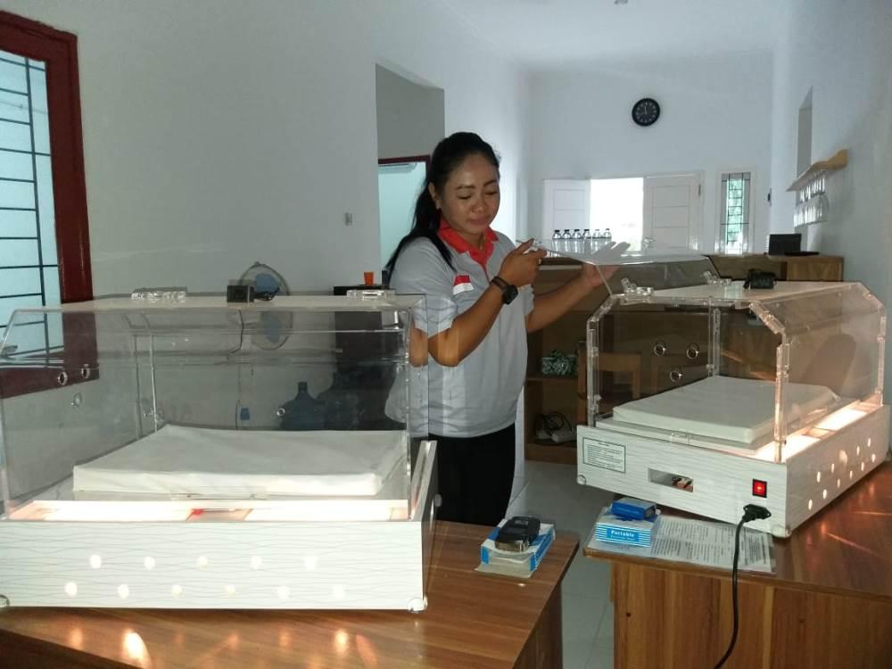 Ruangan inkubator di kediaman Delima di Jalan Menteng Raya, Perum Griya Jakarta, Pamulang, Tangsel.