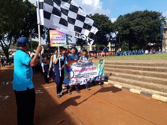 Acara pembukaan seleksi Olimpiade Olahraga Siswa Nasional (O2SN) di dua koordinator wilayah (korwil) Kota Tangerang.