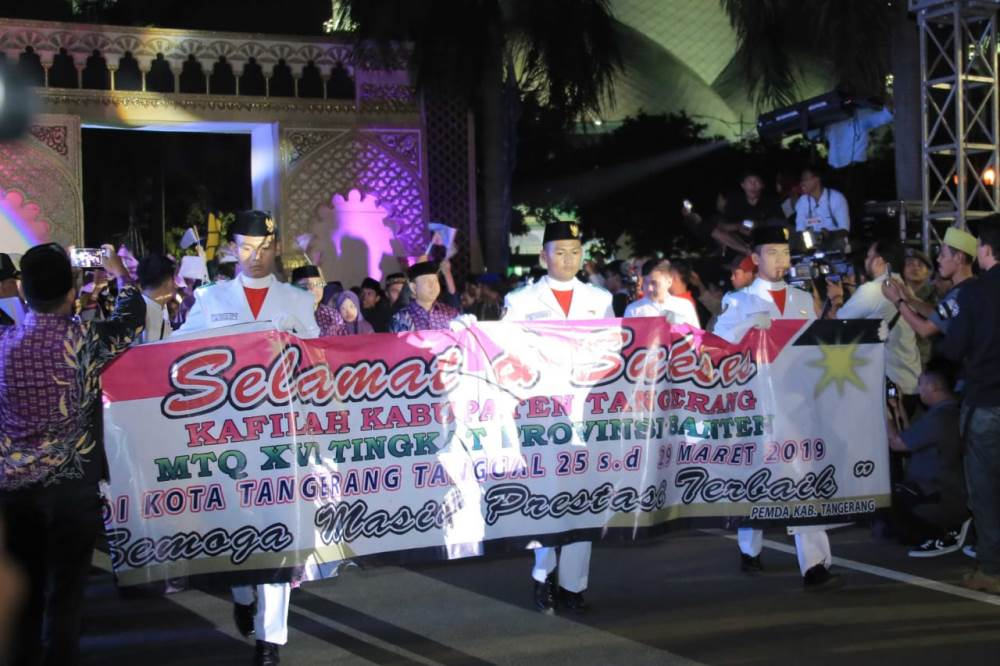 Pembukaan Musabaqah Tilawatil Quran (MTQ) Provinsi Banten ke-XVI di Kota Tangerang.