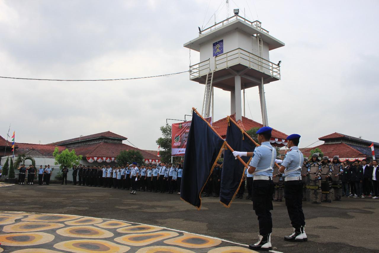 Upacara Hari Bakti Pemasyarakatan (HBP) ke-55 di lingkungan Kantor Wilayah Kementerian Hukum dan HAM Banten (Kanwil Kemenkumham Banten).