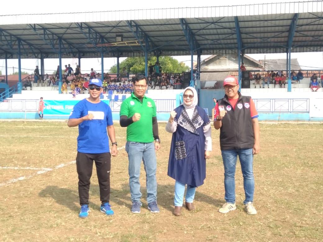 Tampak Tim sepak bola U-12 yang mengikuti Kompetisi liga Aqua Danone Nations Cup (DNC) di Stadion Mini Ciputat, Jalan Pendidikan, Ciputat, Tangsel, Sabtu (22/6/2019).