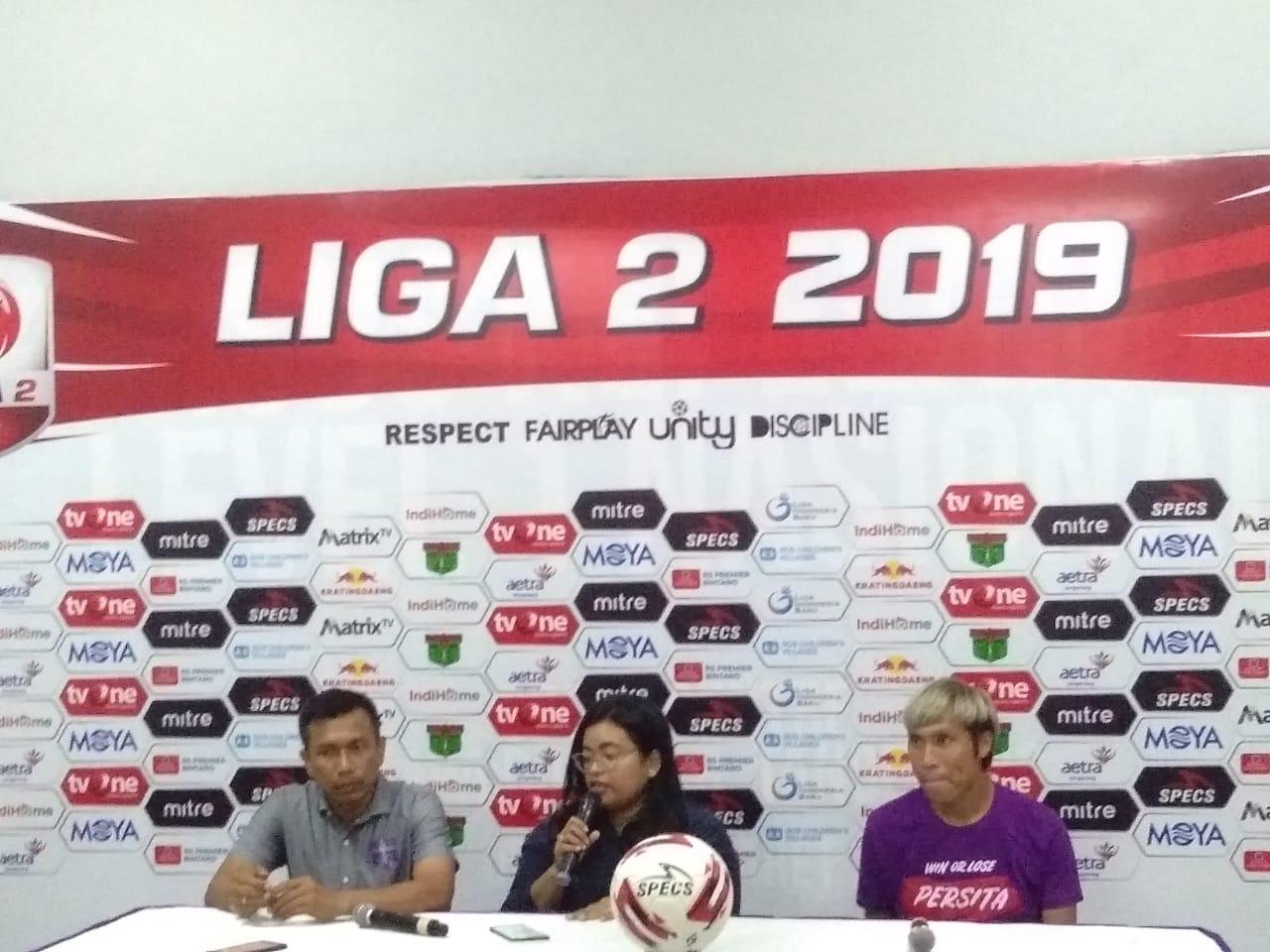 Persita Tangerang Vs PSGC Ciamis Liga 2 Indonesia di Stadion Sport Centre, Kelapa Dua, Tangerang, Kamis (29/8/2019).