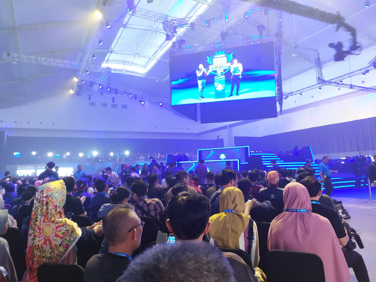 Suasana di turnamen Game Free Fire Asia Invitational (FFAI) 2019 di ICE BSD City.
