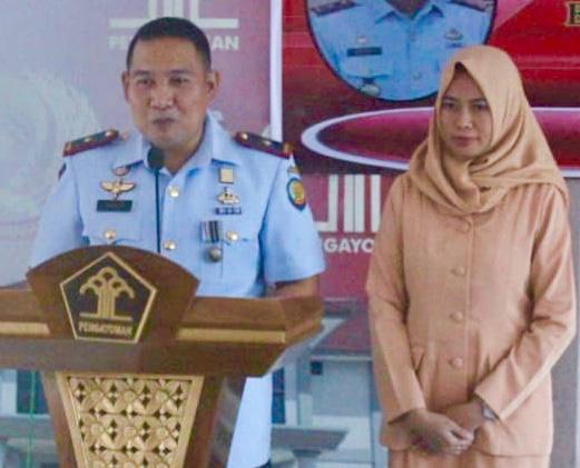Kegiatan Pelantikan Kepala Rumah Penyimpanan Benda Sitaan Negara (Rupbasan) Kelas II Pangkalpinang di Gedung Rupbasan Pangkalpinang, Tua Tunu, Gerunggang, Kota Pangkal Pinang, Kepulauan Bangka Belitung.