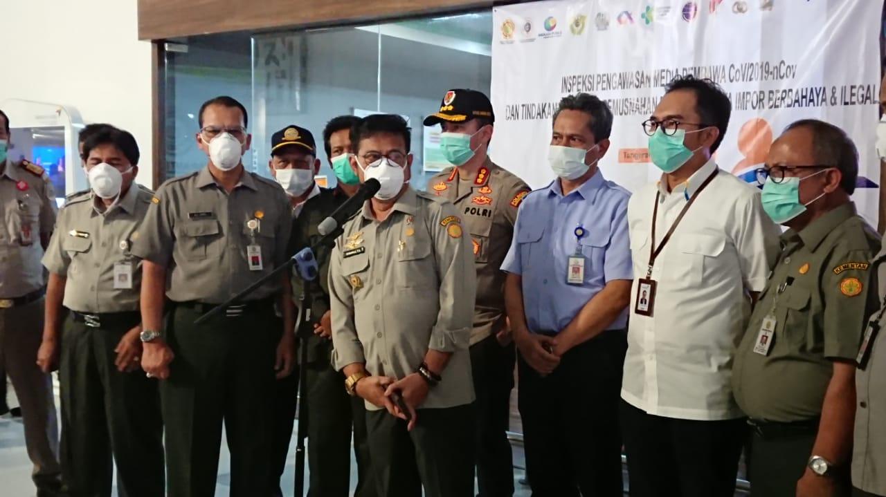 Menteri Pertanian Syahrul Yasin Limpo menyampaikan mitigasi untuk mengantisipasi virus korona.