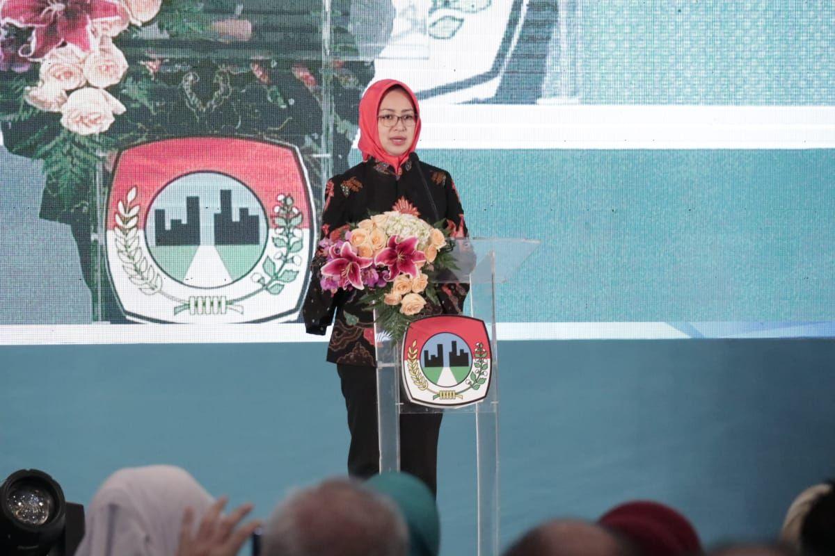Konferensi Pers Launching Munas VI Apeksi 2020 di di Hotel Santika Premiere Bintaro, Pondok Aren, Tangsel, Rabu (19/2/2020).