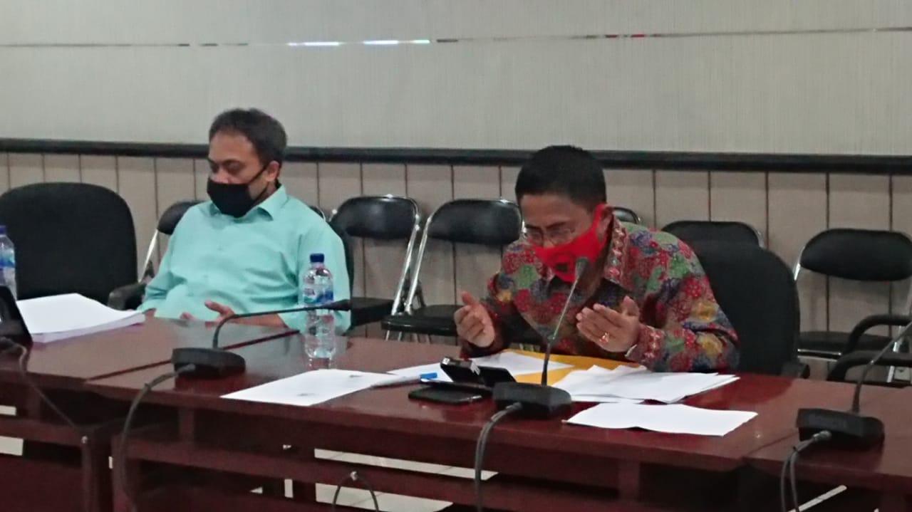 Suasana Musrenbang Rencana Kerja Pembangunan Daerah (RKPD) tingkat Kota Tangerang yang digelar secara online melalui teleconference, Senin (6/4/2020).