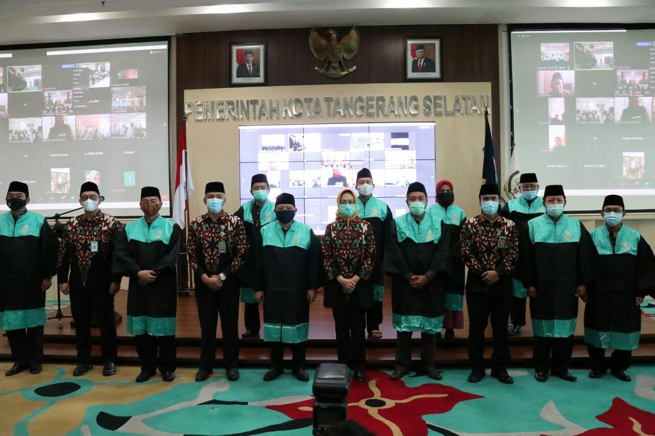 Pemerintah Kota Tangerang Selatan (Tangsel) menggelar lomba Musabaqoh Tilawatil Quran (MTQ) ke-11 secara daring, bertempat di Ruang Blandongan, Puspemkot Tangsel, Jumat (23/10/2020).