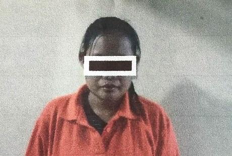 Tersangka Rosita, 28, pelaku yang tega membunuh sang buah hatinya.