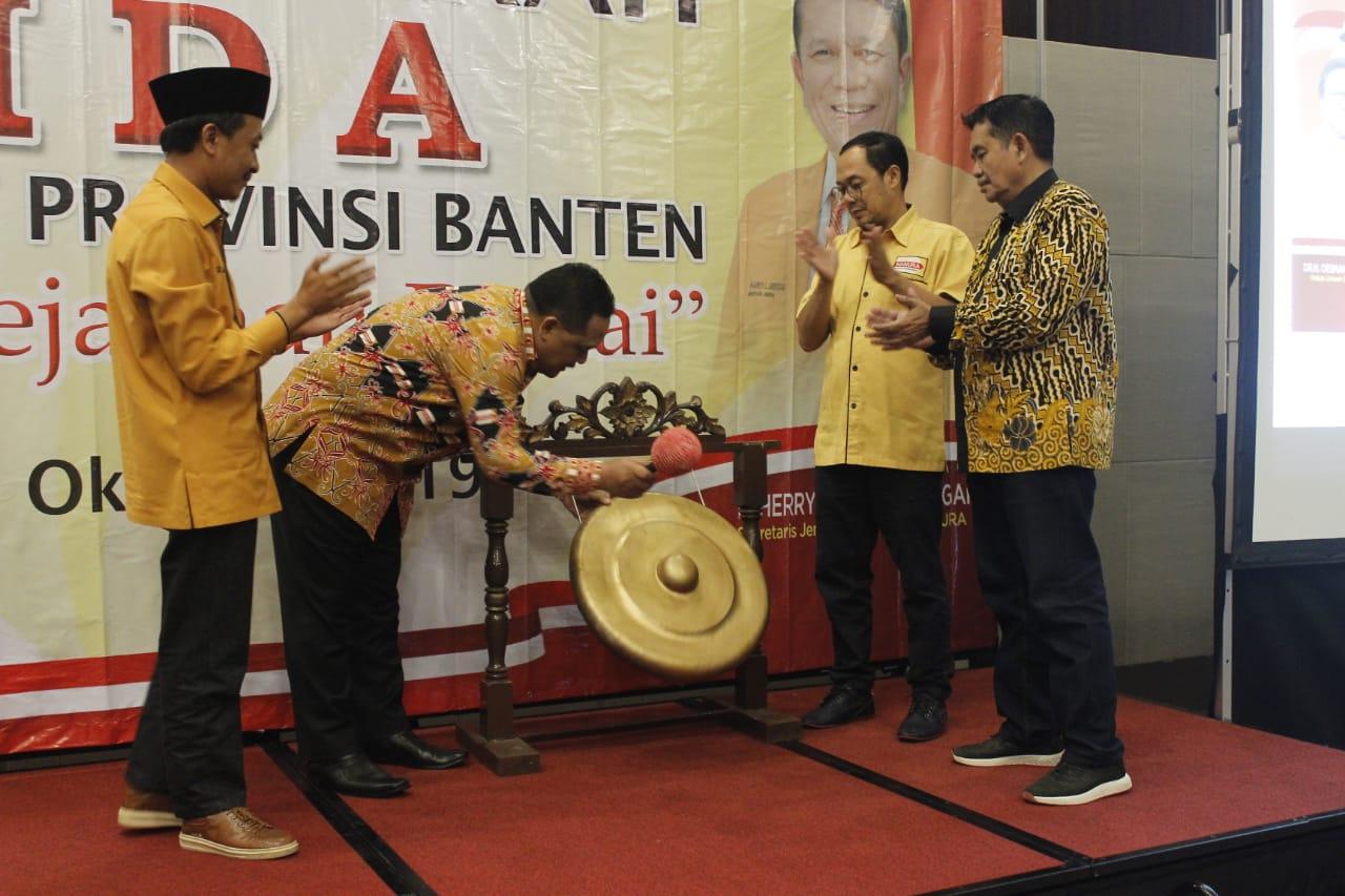 Hanura Banten menggelar Kegiatan Rapat Pimpinan Daerah di hotel Swiss-Belin Cikande, Kabupaten Serang, Selasa (8/10/2019).
