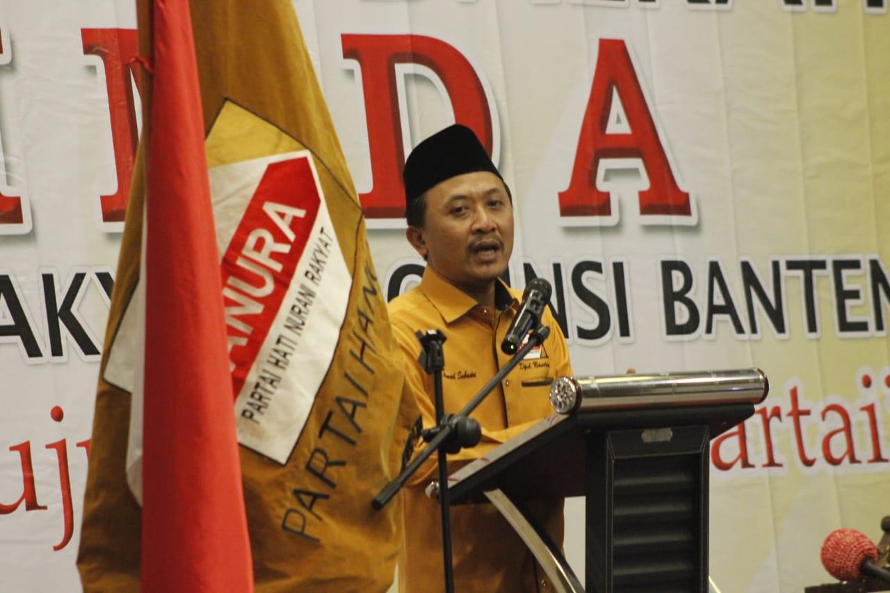 Ketua DPD Hanura Banten Ahmad Subadri.