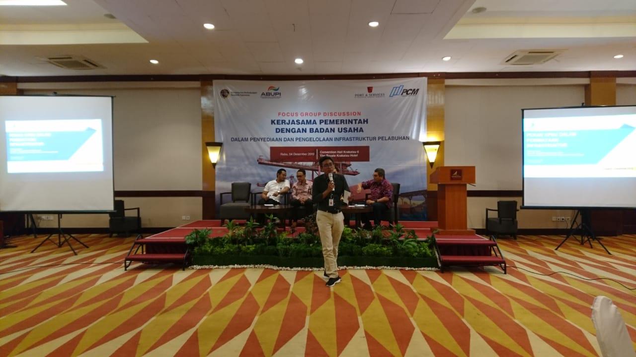 Kegiatan peresmian Asosiasi Badan Usaha Pelabuhan Indonesia di Banten.