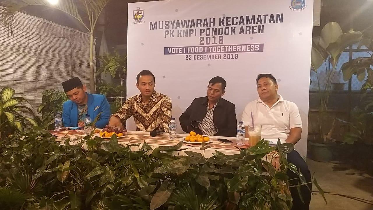 Kegiatan Musyawarah Kecamatan PK KNPI Pondok Aren.