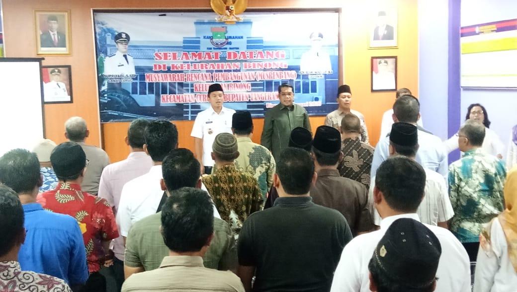 Kegiatan musyawarah perencanaan pembangunan (Musrembang) di Kelurahan Binong, Kecamatan Curug, Kabupaten Tangerang, Rabu (22/1/2020).