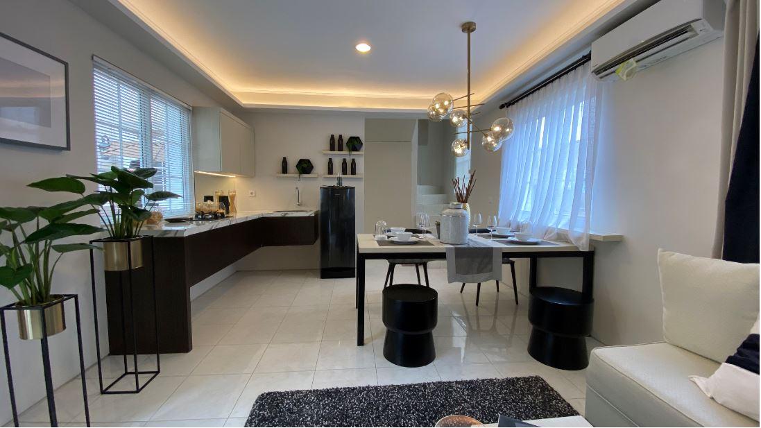 Rumah Hunian memiliki konsep unik tipe Muse @Alesha Pool Villa di kawasan Vanya Park BSD City.