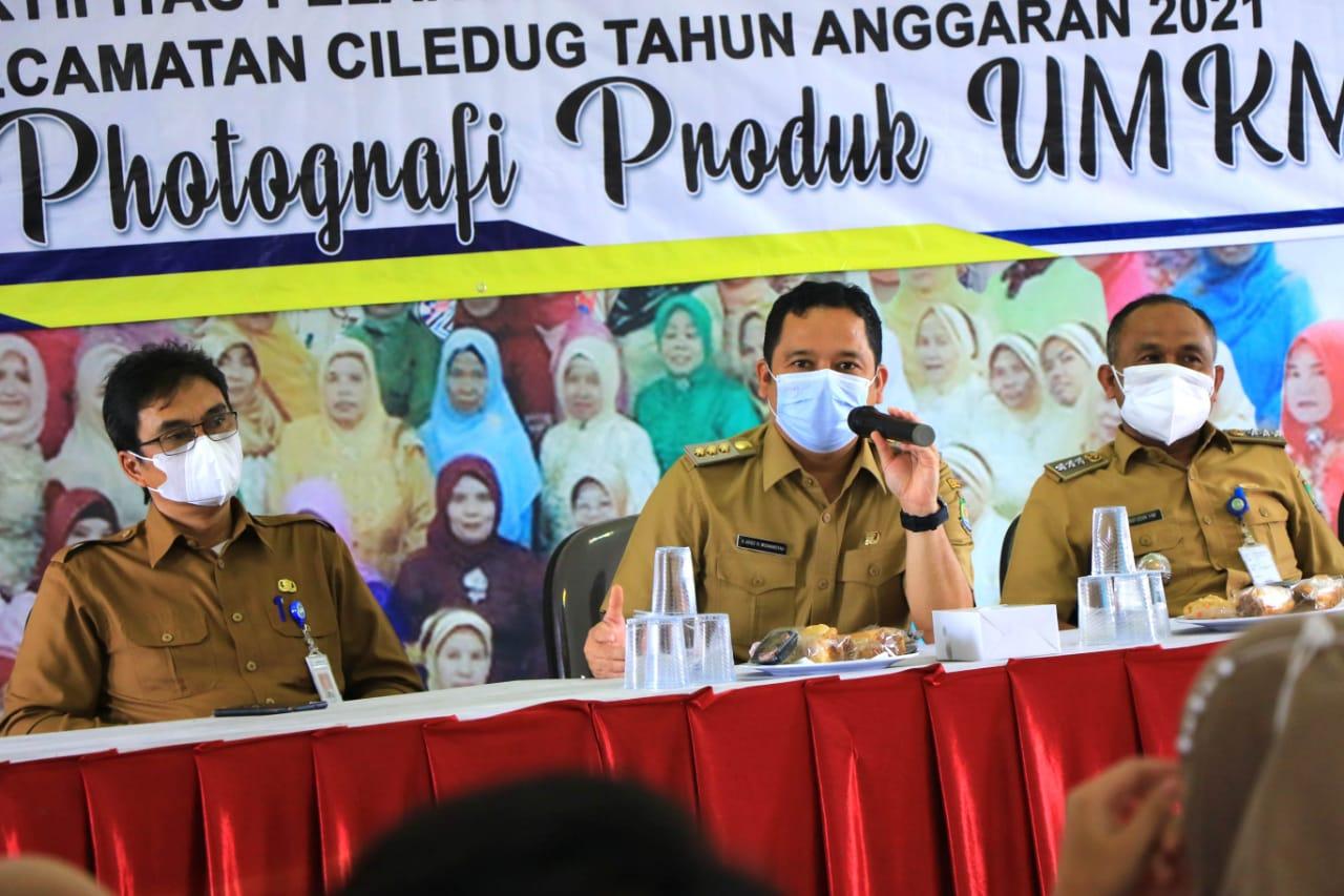 Kegiatan pelatihan packaging produk UMKM di kantor Kelurahan Tajur, Ciledug, Selasa 8 Juni 2021.